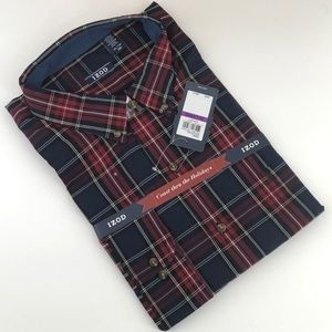 Men's IZOD Mightnight Holiday Tartan Shirt XXL